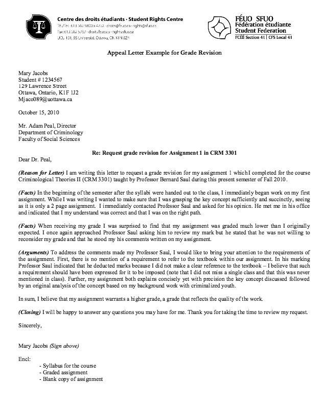 grade appeal letter example resume    resumesdesign com  grade