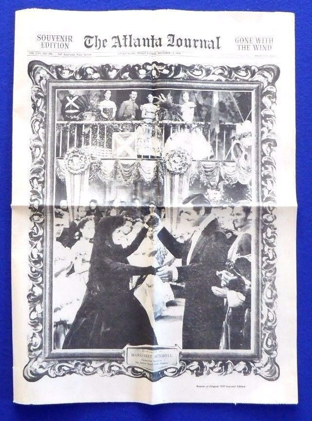 GONE WITH THE WIND 1939 Atlanta Newspaper Souvenir Edition Reprint