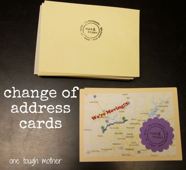 custom quotgoogle mapquot change of address cards might do With change of address announcements postcards