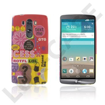 Westergaard (Tekst Mig & Blomster) LG G3 Deksel
