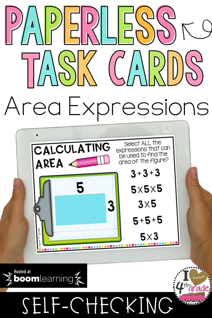 Area | Calculating Area | Area Math Centers | 3rd Grade Area Activities | Boom Cards | Do your students need additional support finding ways to calculate area?  This BOOM deck is multiple select and aligned to 3rd grade standards. ($)