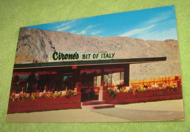 Postcard Cirone's Bit of Italy Restaurant in Palm Springs, California~978 Unused