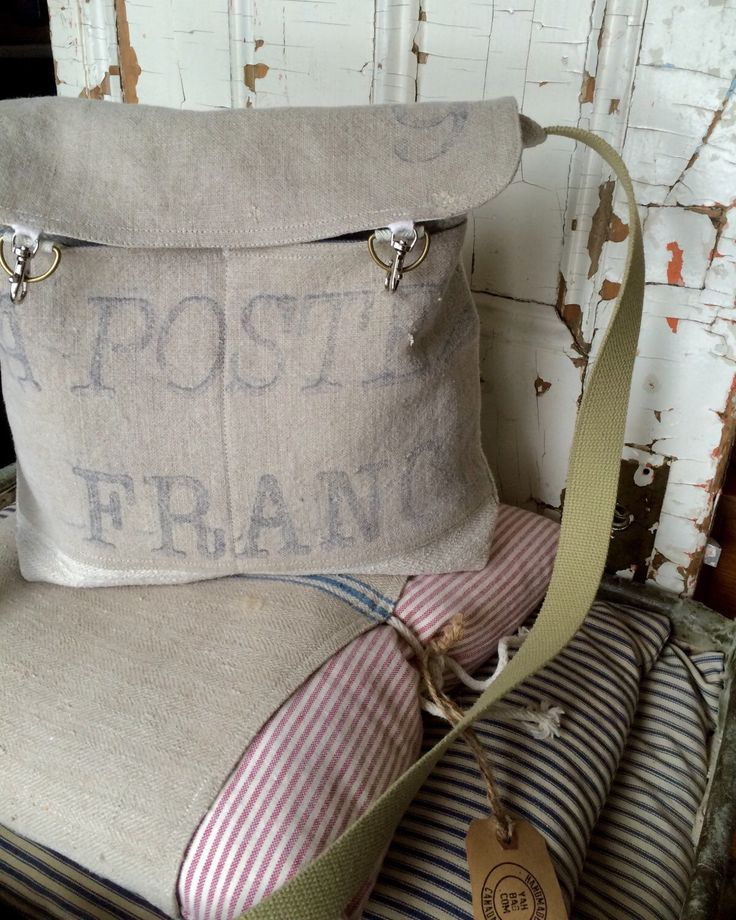 POSTES - reconstructed vintage postes france messenger bag by yahbag on Etsy https://www.etsy.com/listing/226222211/postes-reconstructed-vintage-postes