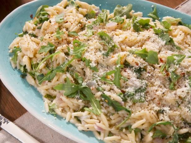 Peppery Parmesan Orzo Recipe from Food Network (Farmhouse Rules)
