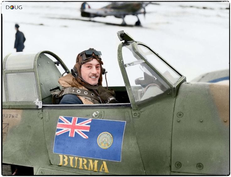 Acting Squadron Leader Robert Stanford-Tuck DSO., CO of No. 257 Squadron, in the cockpit of his Hawker Hurricane Mark I, V6864 'DT-A', at RAF Coltishall, Norfolk. January 1941.