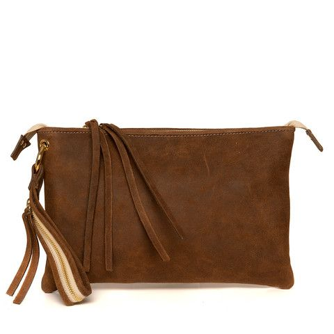 Blankens clutch The Elsa in Brown nubuck.