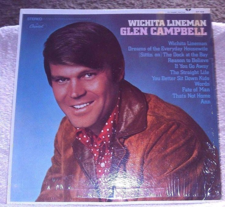 Glen Campbell WICHITA LINEMAN LP Album - Vinyl Capitol Records ST-103