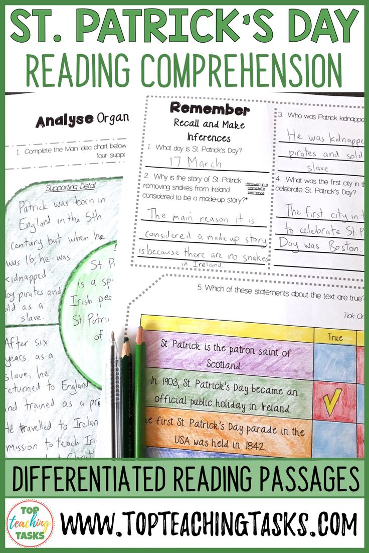 St Patrick S Day Reading Comprehension Passages And Questions Reading Comprehension Reading Comprehension Passages Reading Lesson Plans [ 1102 x 736 Pixel ]
