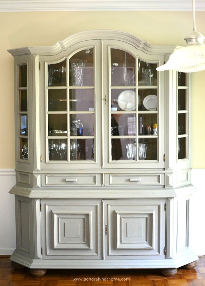 DIY China Cabinet Chalk Paint Makeover | Hometalk