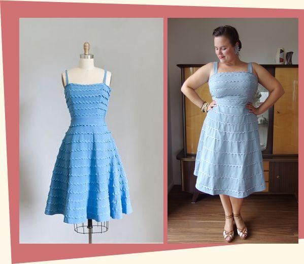 Vintage Hochzeitskleid, 50er noni