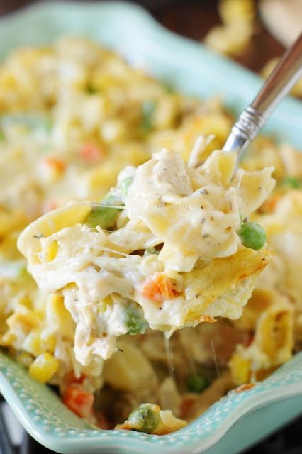 Leftover Turkey Noodle Casserole ~ When you get tired of turkey sandwiches, whip up a creamy pan of Leftover Turkey Noodle Casserole to enjoy those Thanksgiving and Christmas turkey leftovers.  You may just decide it's so good, you don't want to wait for turkey leftovers  to make it!