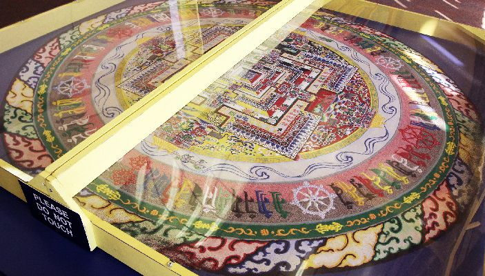 Utep 2022 Calendar.The Completed Tibetan Sand Mandala Can Be See In The Bhutan Lounge Of Utep Union Building East Until Its Dismantling Sand Painting Tibetan Tibetan Sand Mandala