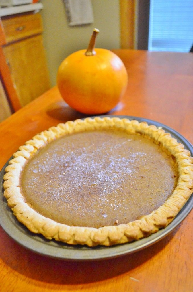 Pumpkin pie from scratch, delicious, traditional recipe!
