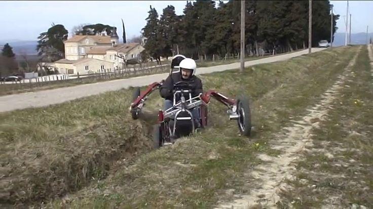 従来の常識では考えられないほど自由に動く脚を持ち、どんな悪路や斜面でもタイヤがガッチリと地面を捉えてぐいぐい走る電動4輪バギー「Swincar E-Spider」が登場しました。Véhicul