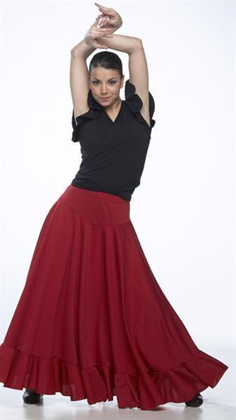Юбка фламенко с запахом