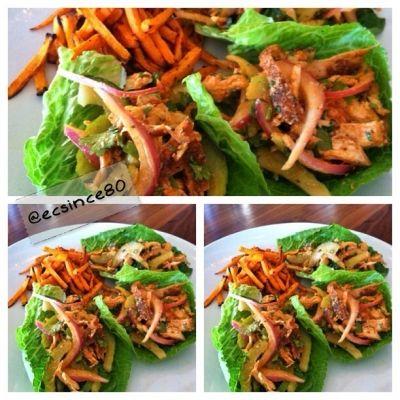Ripped Recipes - Buffalo Chicken Salad Lettuce Wraps - Buffalo Chicken Salad Lettuce Wraps!!!
