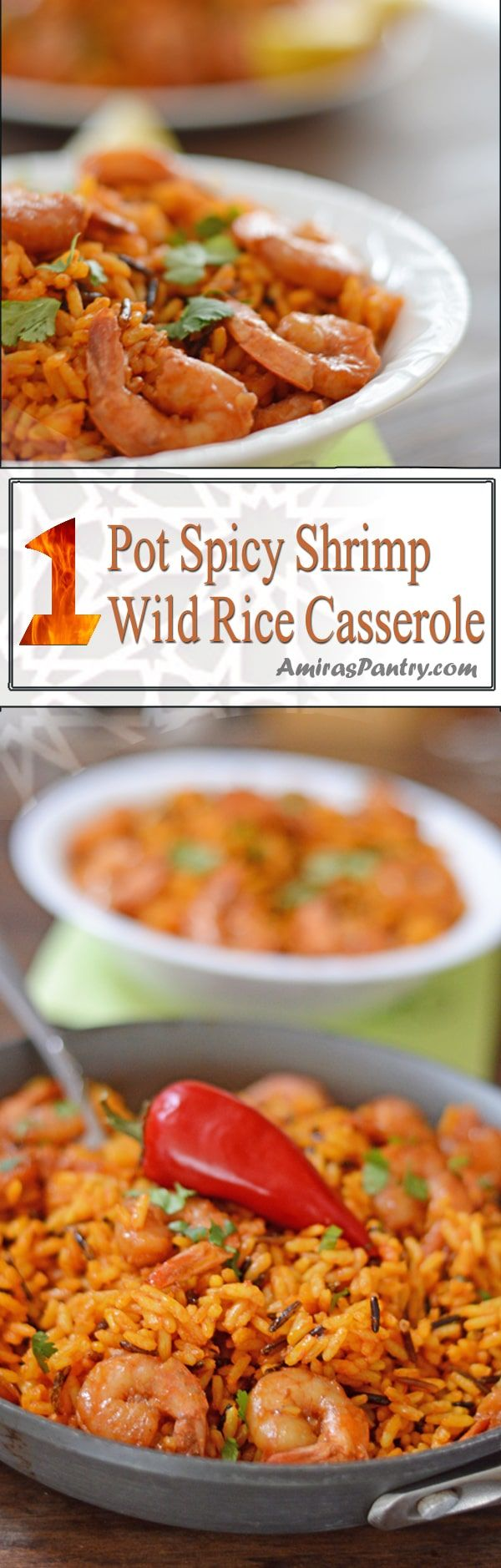 This is a one-pot family meal spicy wild rice shrimp recipe.Rich, delicious and a perfect 30 minutes dinner for busy weeknights.
