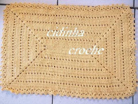 Croche -Tapete Retangular- Passo A Passo - Parte1 - YouTube