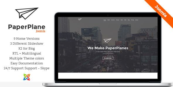 Paperplane is creative one page joomla template, suitable for any type of websites like business, portfolio, personal website etc.