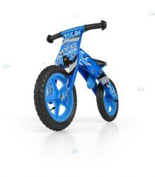 Drewniany rowerek biegowy FLIP niebieski
