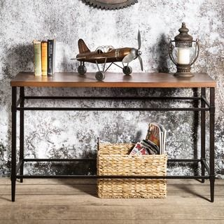 Furniture of America Colegate Light Oak Industrial Sofa Table - Overstock™ Shopping - Great Deals on Furniture of America Coffee, Sofa & End Tables