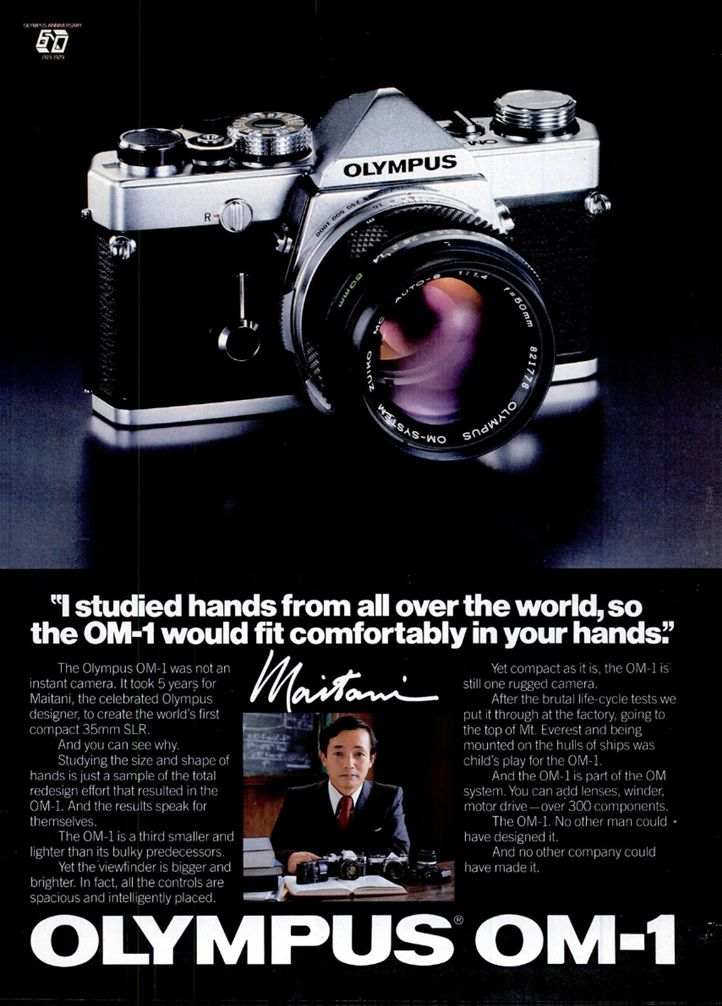 Blast from the past: Scan of an Olympus OM-1 advertisement placed in American magazines in 1980. #photography