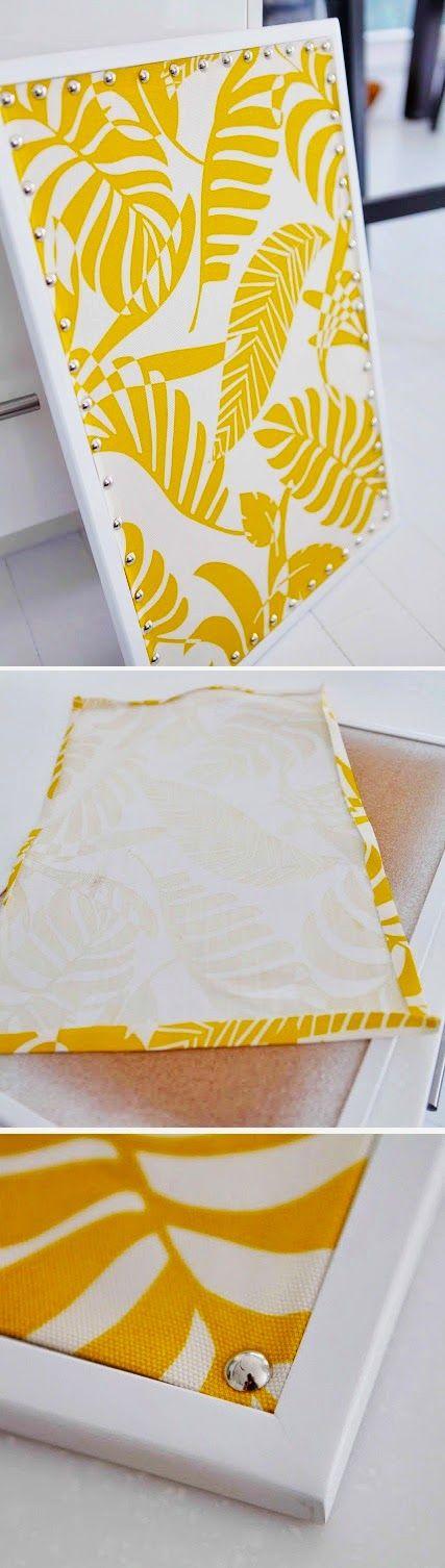 livin' spaces: DIY Decor ~ Cost friendly Framed Fabric Art.