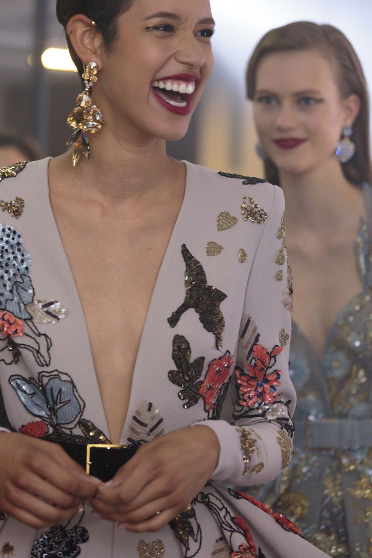 ELIE SAAB Backstage | Haute Couture Spring Summer 2016 Totally see myself making those kind of earrings http://etsy.me/2bMwCeq