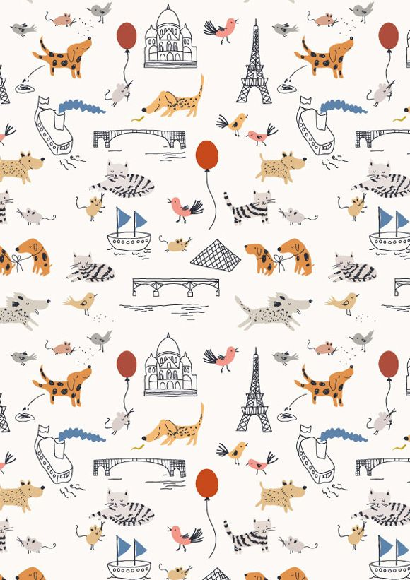 new pattern for children's textiles, wrapping paper or wallpapers