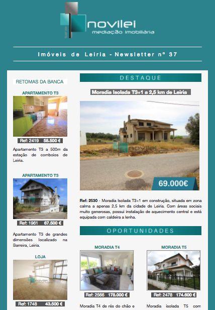 Newsletter nº 37 do dia 28 de Setembro - Imóveis de Leiria 🏠  Para Subscrever e receber a newsletter no seu email, entre no link a seguir - https://goo.gl/hsJHD7  #newsletter #imoveis #imobiliaria #novilei #realestate #portugal    Para Subscrever e receber a newsletter no seu email, entre no link a seguir - https://goo.gl/hsJHD7