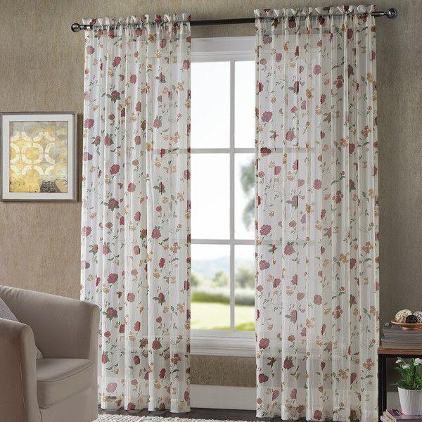 vcny sheer drape panel u0026 reviews wayfair sheer rodssheer curtain
