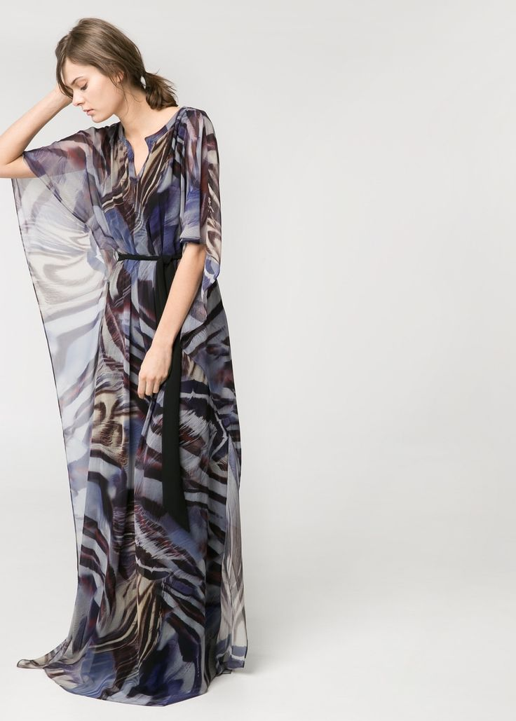 Chiffon caftan long dress