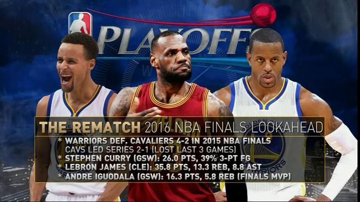 2016 NBA Finals Rematch of the Warriors and Cavaliers