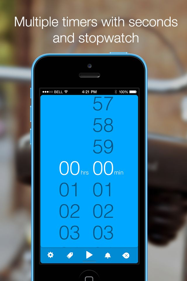 Timeless Timer: Multiple timers with seconds and stopwatch http://timeless-app.com