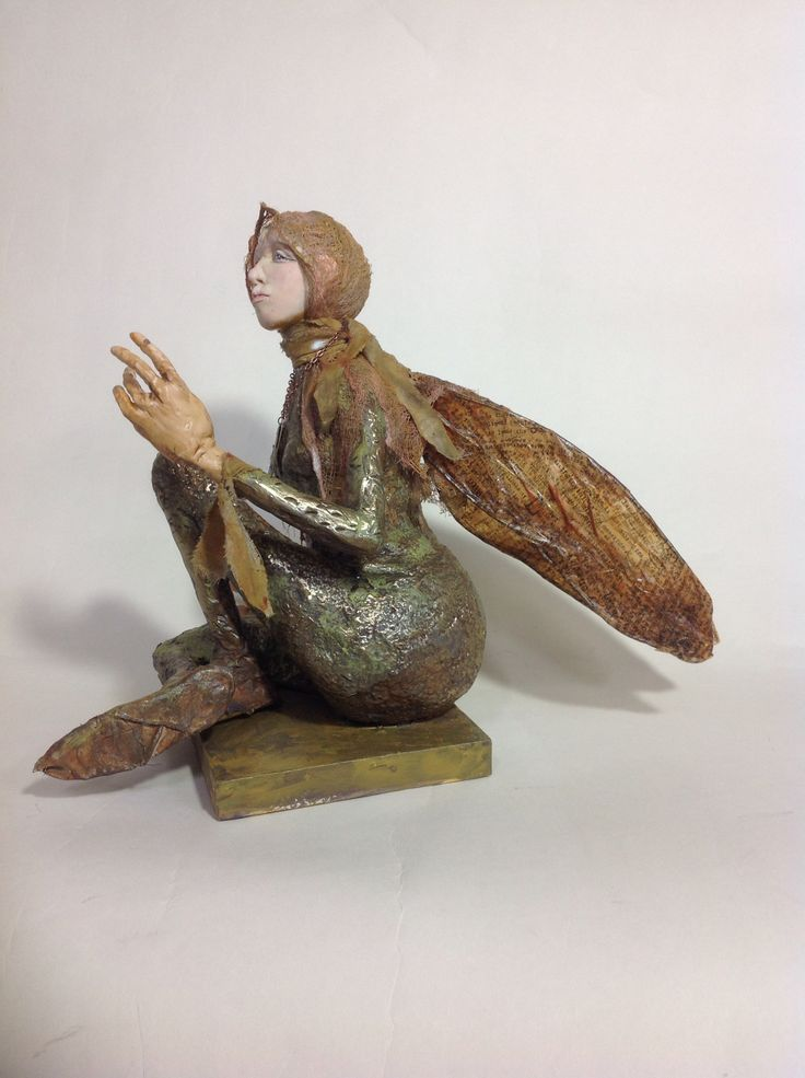 Don't be Afraid, mixed media sculpture