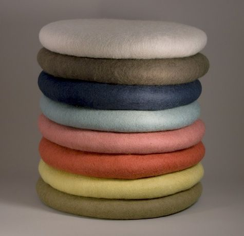 Design Sleuth: Round Felt Cushions from Canvas : Remodelista