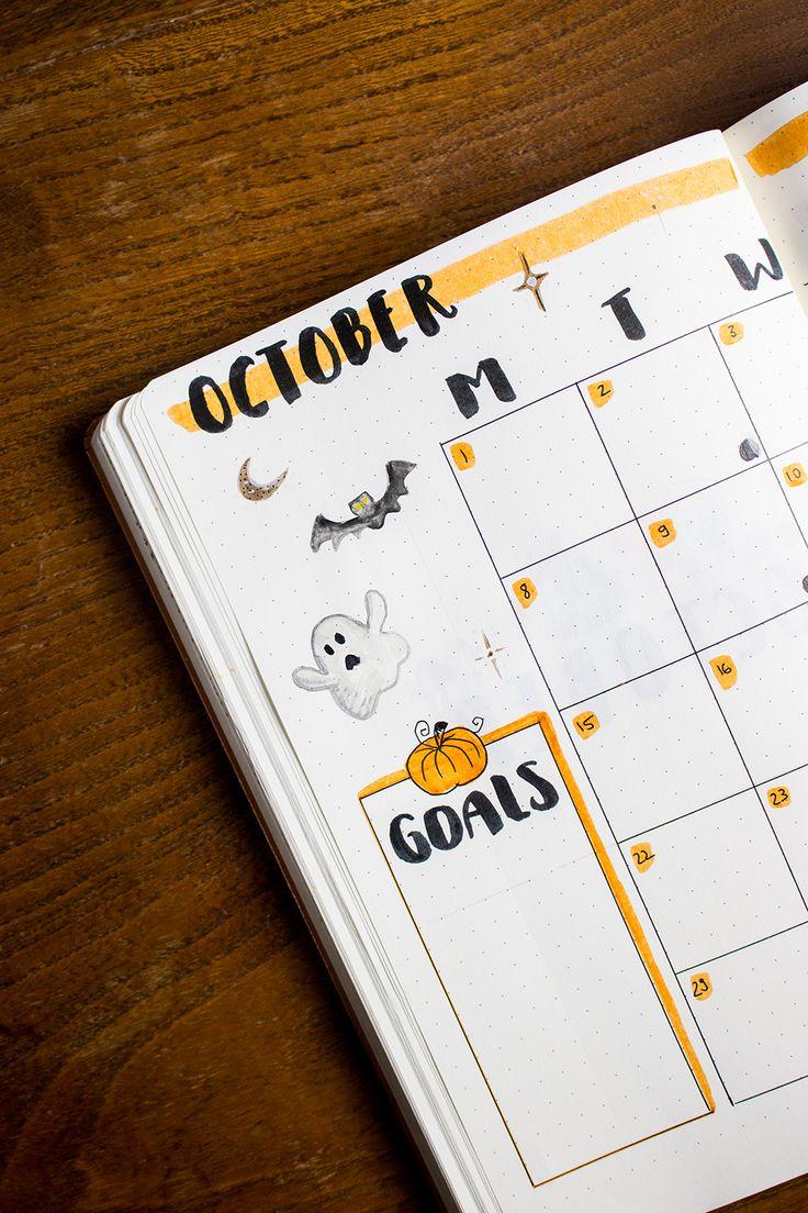 Mein Oktober Bullet Journal Setup – Planen Sie mit mir