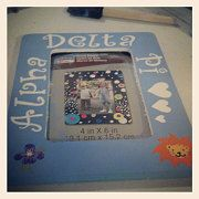 Caro H. from August GA made this frame using her Alpha Delta Pi Supply Sack with our custom stencils!  Great job Caro.  #alpha #delta #pi #frame #sorority #lion #violet #diy #greek #stencil #handmade #craft #ideaGreek Crafts, Crafts Ideas, Adpi Crafts, Sorority Crafts, Custom Stencils, Diy Greek, Handmade Crafts, Craft Ideas, Alpha Delta Pi