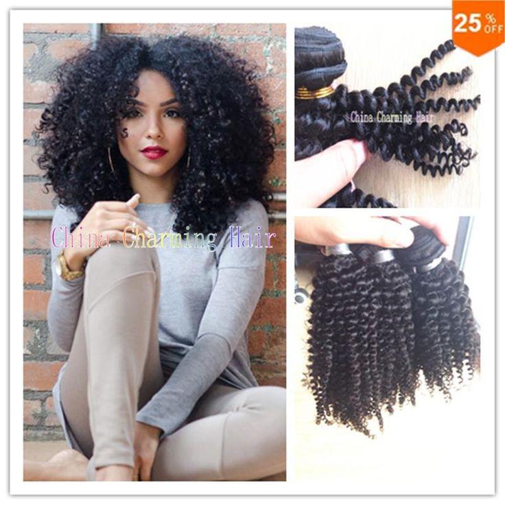 Online Cheap Charming #Hair Weaving Curly #Brazilian Afro Kinky Curly Bundles Unprocessed Jerry Curl Human Virgin Hair Weave Bohemian Hair By Cutehair | Dhgate.Com