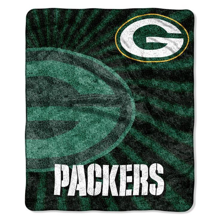 Green Bay Packers Blanket 50x60 Sherpa Strobe Design