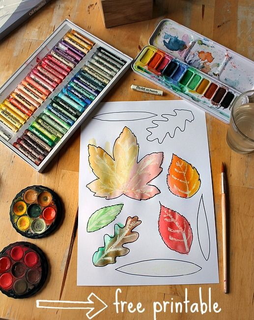 Free printable leaf coloring sheet and ideas for how to use this autumn printable for some leaf art and activities.