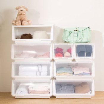 あなたのクローゼットに合う収納ケースはどれ?無印・IKEA・ニトリを ... ニトリの収納ボックスの中でも定番なのが、横フタを開けて取り出す