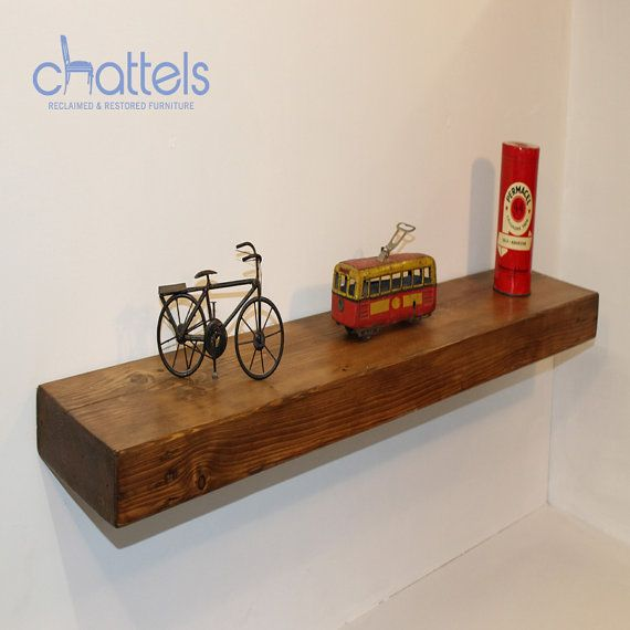 Reclaimed Solid Pine Floating Shelf Hand-Made Any Size Mantel Reclaimed Chunky Pine on Etsy, £25.00