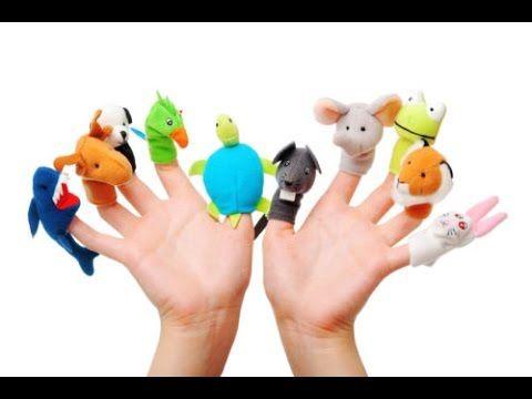 Finger Puppet Family | Finger Family Rhymes | Action Songs For Children ...