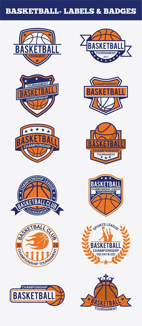 Basketball Badges & Stickers Vol2 by shazi on @creativemarket