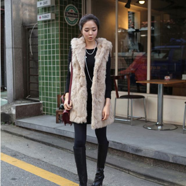 Free shipping 2015 real female natural rex rabbit hair fur vest with a hood waistcoat medium-long women hooded vest US $51.85 /piece    CLICK LINK TO BUY THE PRODUCT  http://goo.gl/oYWEYs