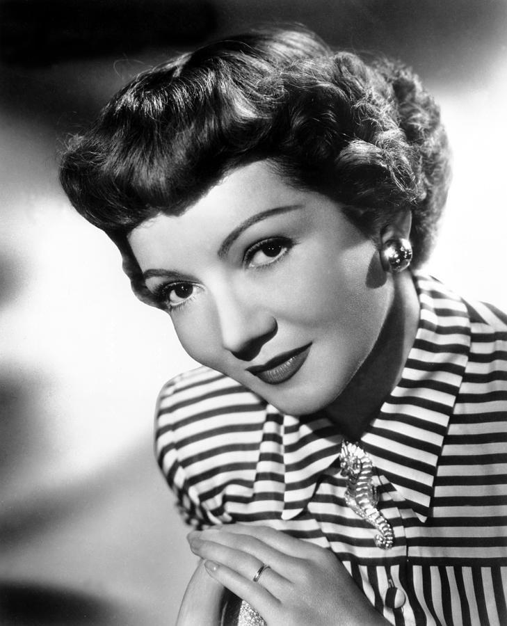 Claudette Colbert, Portrait, 1940s Photograph