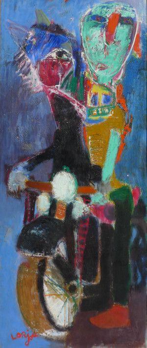 Bernard Lorjou (1908-1986) was een Franse schilder van het expressionisme. Lorjou raakt bekend om zijn extravagante tentoonstellingen en strijdlustige geest. Zijn oeuvre bestaat uit duizenden schilderijen, een verzameling houtgravures, keramiek en bronzen beelden, litho's, geïllustreerde boeken, maatschappelijk georiënteerde posters, glas in lood ramen en muurschilderingen. (1963)