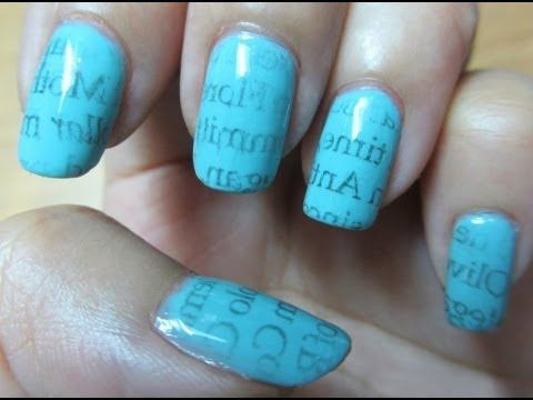 25 beautiful newspaper nail art ideas on pinterest diy nails are you tired of the time consuming nail art in this tutorial youll learn how to make newspaper nails using water which gives new meaning to having the prinsesfo Image collections