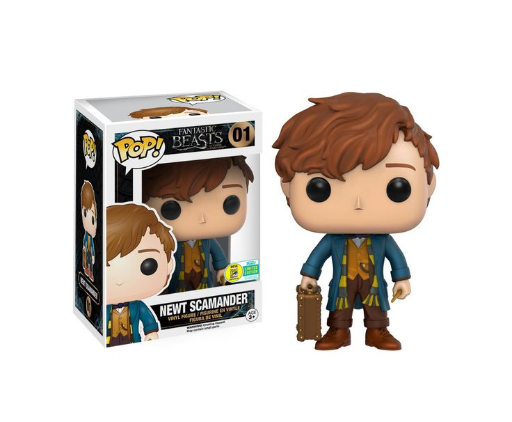Fantastic Beasts and Where to Find Them: Newt Scarmander Pop figure by Funko, 2016 San Diego Comic Con Funko exclusive, Barnes & Noble exclusive